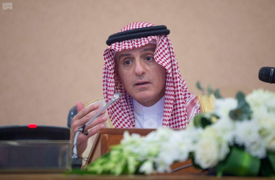 الجبير في مؤتمر مشترك مع أمين عام مجلس التعاون: انتهاء أزمة قطر مرهونة باستجابة الدوحة لشروط دول المقاطعة