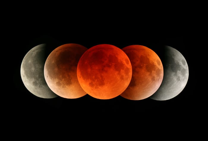 فلكية جدة: خسوف جزئي للقمر بسماء السعودية- فجر الإثنين