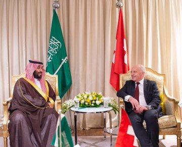 ولي العهد يبحث مع الرئيس السويسري الفرص الواعدة بين البلدين