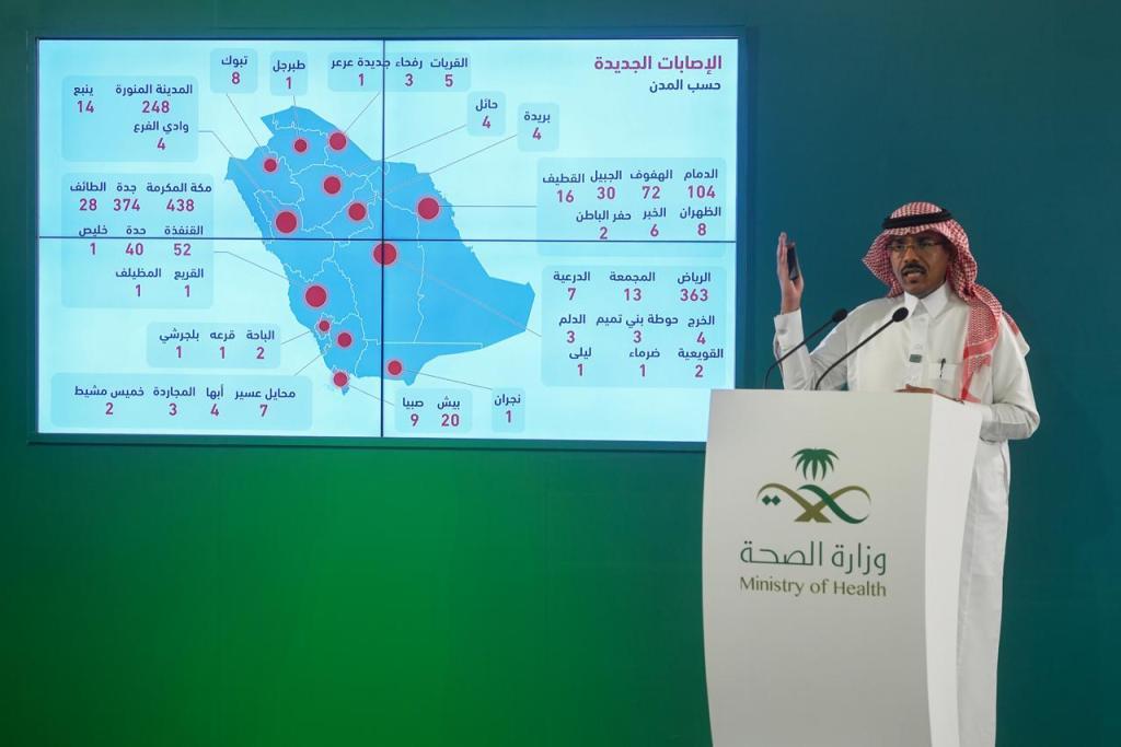 تسجيل 1912 حالة جديدة مصابة بفيروس كورونا الجديد في السعودية