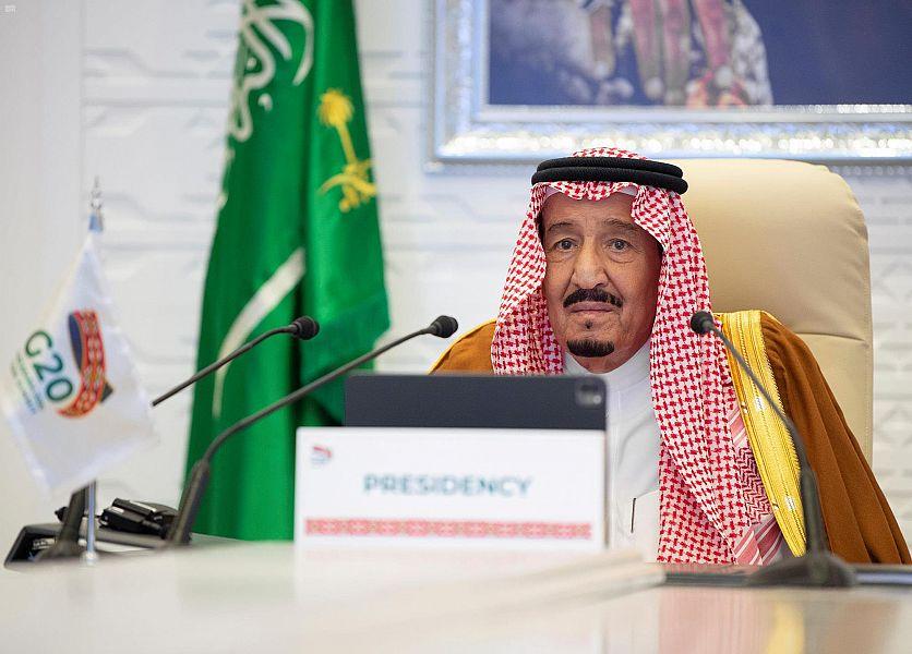 خادم الحرمين الشريفين:رئاسة المملكة لمجموعة العشرين شجعت اطار الاقتصاد الدائري للكربون