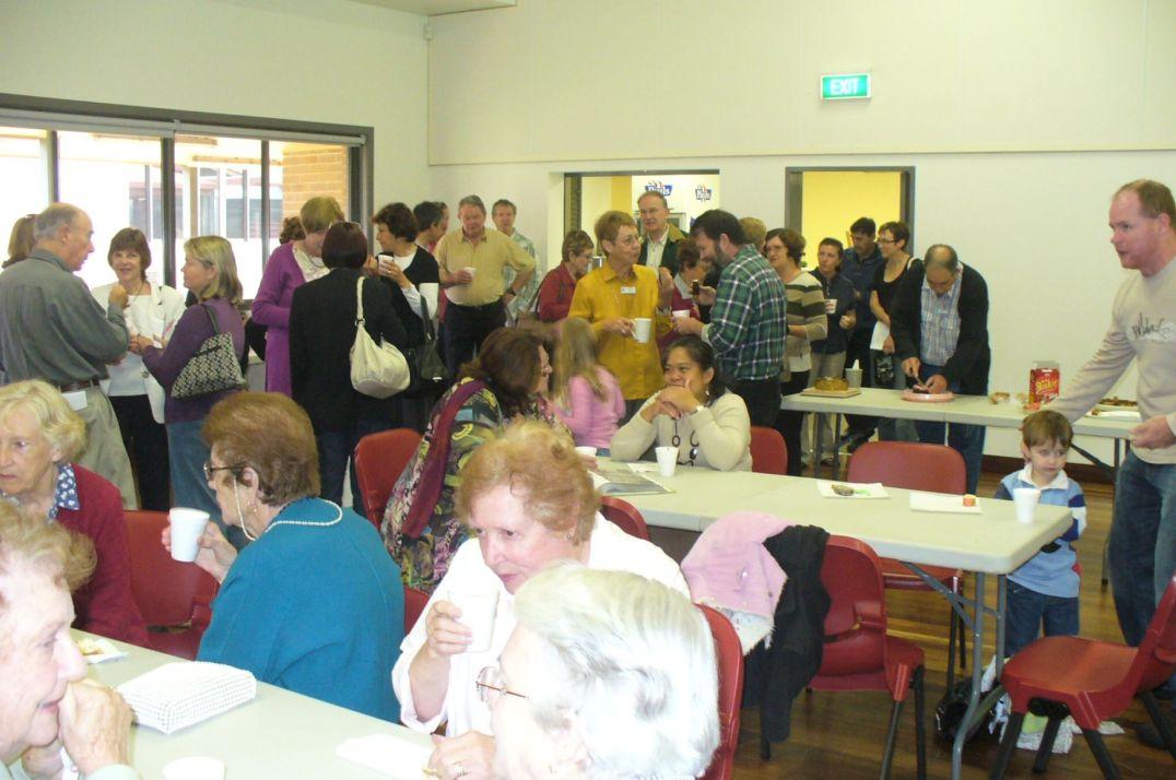The Family Group Movement often host Parish Morning Teas.