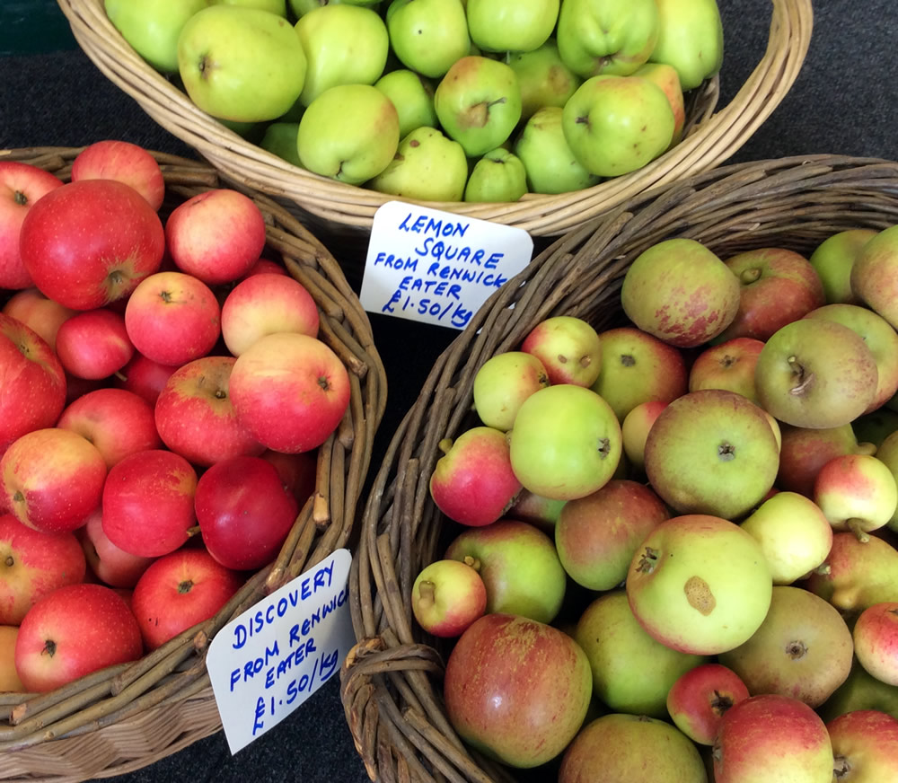Apples for sale in the shop