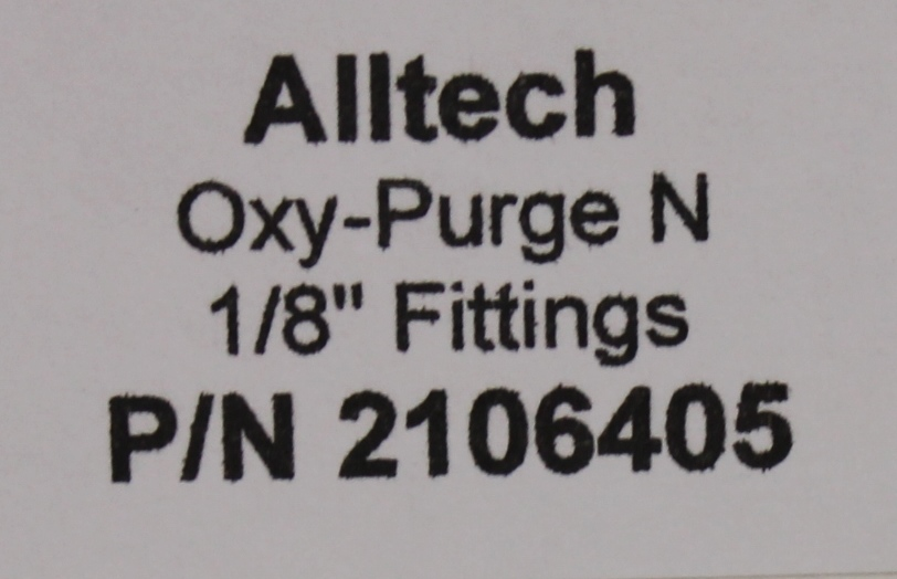 Refurbished Alltech Oxy-Purge N Fitting Trap: 0.3cm P/N