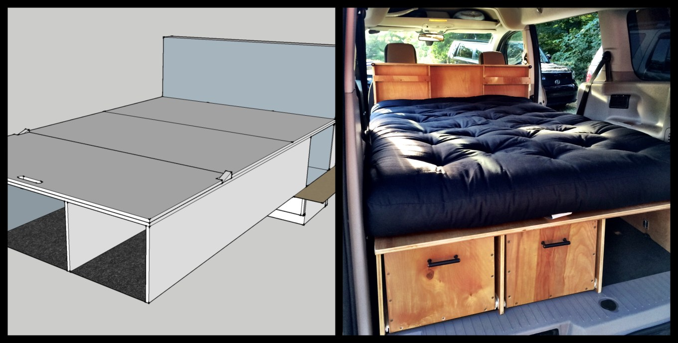 our micro camper a diy ford transit connect conversion. Black Bedroom Furniture Sets. Home Design Ideas
