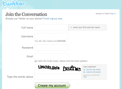 Twitter registro