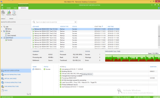 31 - Test 10 - Veeam GUI