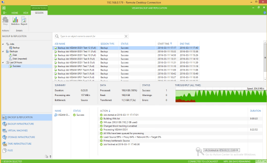 36 - Test 12 - Veeam GUI