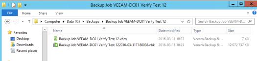 41 - Test 12 verification - filesize