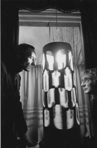 William Burroughs facing a Dream Machine