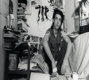 Nick Cave with books