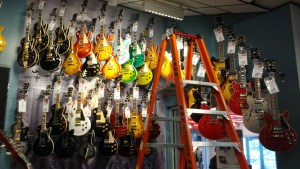 Gibson guitars on sale, probably for massive prices