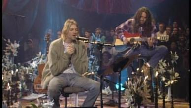 Nirvana and Meat Puppets during the 1993 Unplugged session (Photo: MTV)