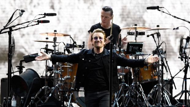 U2 singer, Bono. Source: Reuters/Dylan Martinez