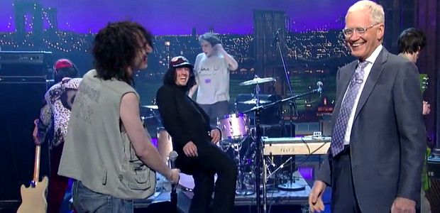 fat white family on david letterman show playing is it raining in your mouth?