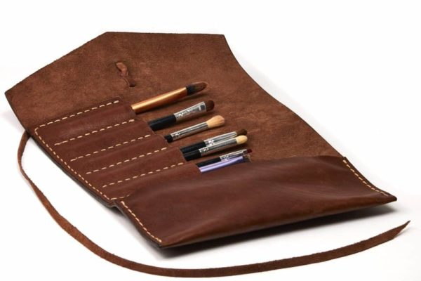 leather pen pencil roll