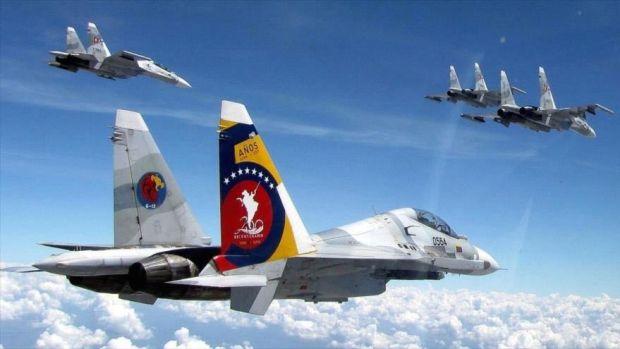 Aviones de combate sujoi-30 de la Aviación Militar Bolivariana