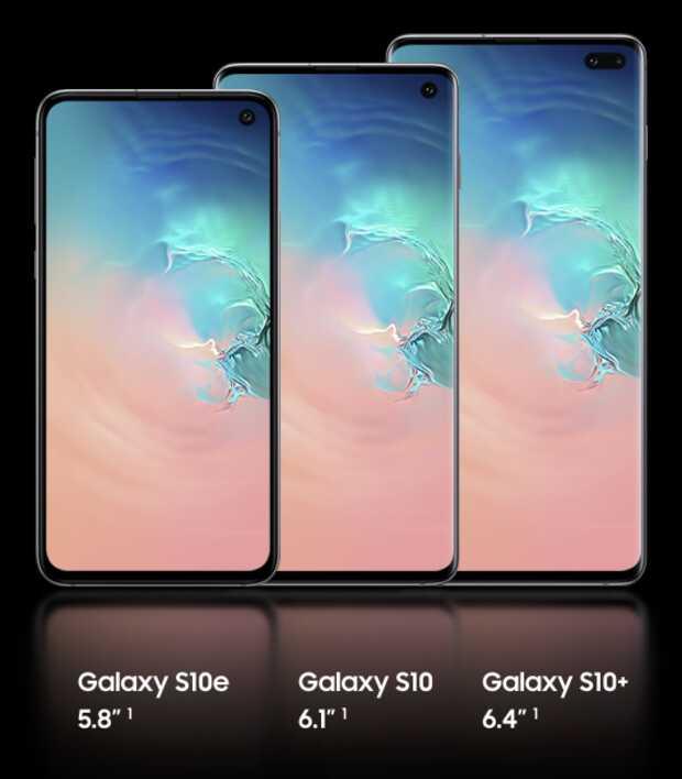 Todas las especificaciones de la nueva familia de smartphones Galaxy S10