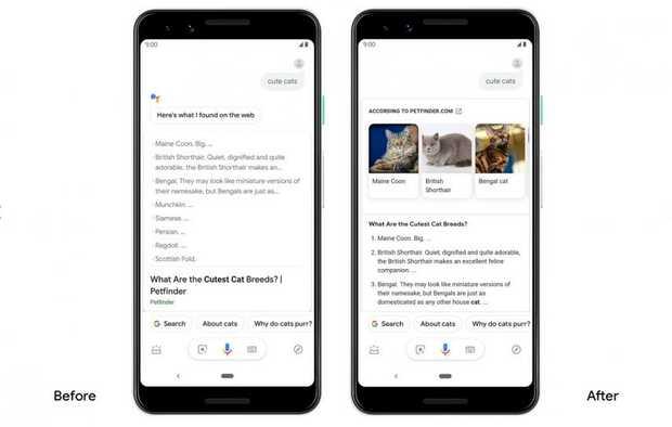 Google Assistant ahora proporciona respuestas visuales más ricas en Android