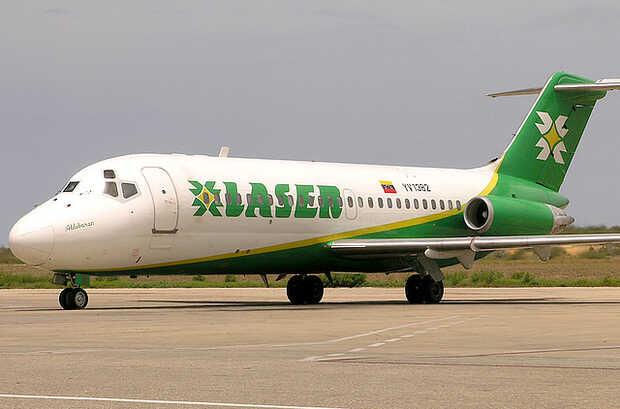 Aerolínea Laser reprograma vuelos Caracas-Miami con escala en Santo Domingo