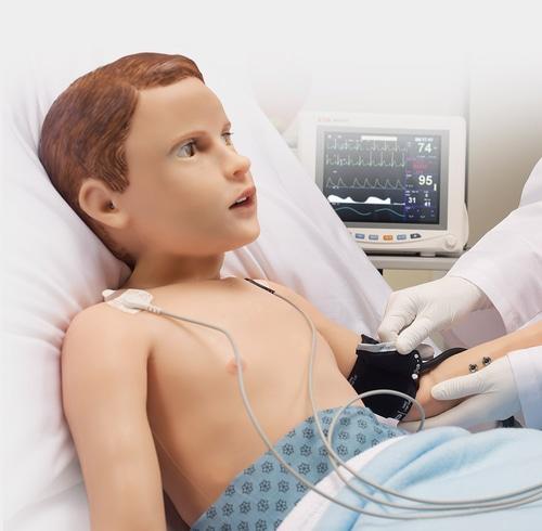 Gaumard se dedica a fabricar robots como Pediatric HAL para que los médicos y estudiantes de medicina practiquen actuaciones reales sin riesgo