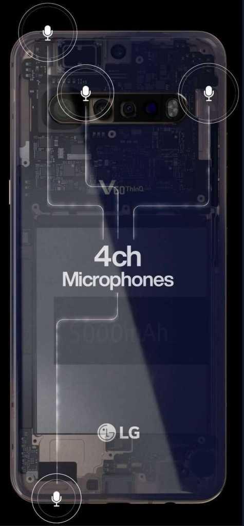 Filtran imágenes del LG V60 ThinQ y muestran 4 cámaras y una gran batería