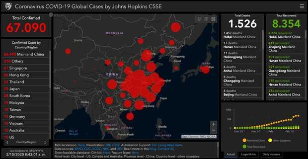 Muertes por coronavirus superan las mil 500 (mapa y cifras)