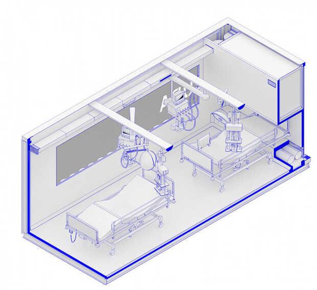Crean módulos portátiles de cuidados intensivos para cubrir demanda por COVID-19