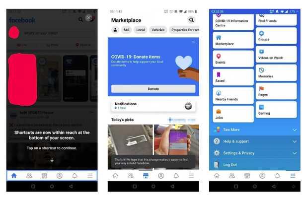Facebook para Android cambia su interfaz y ahora es mejor con una mano