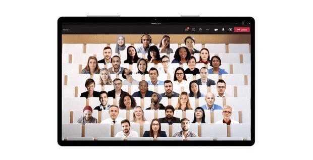 Microsoft Teams coloca a todos los integrantes de la videollamada uno al lado de otro