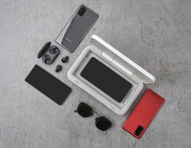 Esterilizador UV de Samsung desinfecta y carga tu teléfono de forma inalámbrica