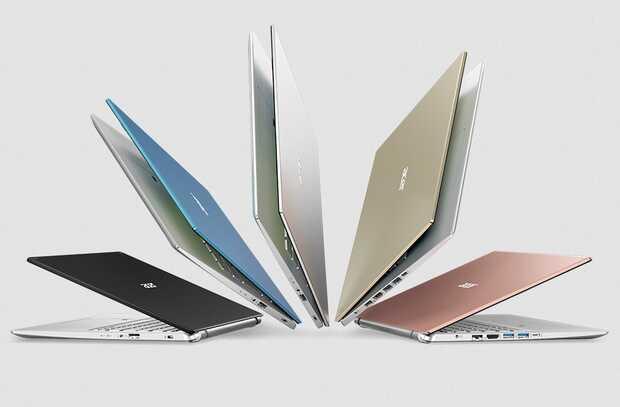 Acer actualiza las familias de portátiles de consumo Swift, Aspire y Spin