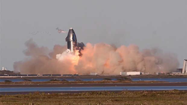 Nave espacial Starship de SpaceX explota al aterrizar después del lanzamiento de prueba