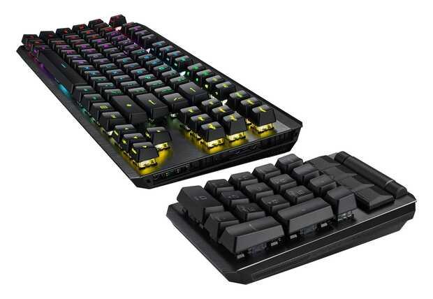 Asus ROG Claymore II: teclado modular con interruptores de tecla mecánicos ópticos sólidos y súper rápidos