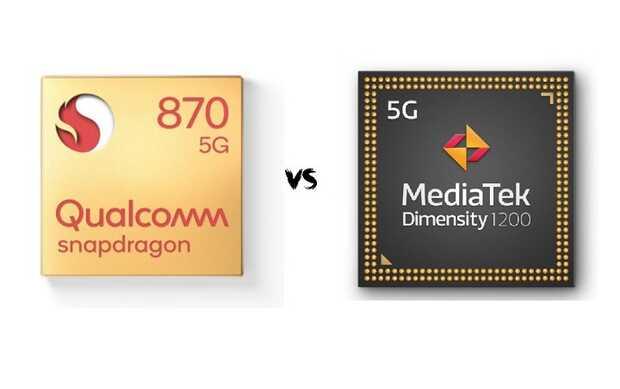 Batalla de chips: Snapdragon 870 frente al Dimensity 1200