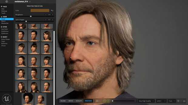 Crea personajes humanos hiperrealistas para películas y videojuegos con sorprendente editor web