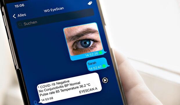 Test rápido de COVID-19 con una foto del ojo usando una app móvil