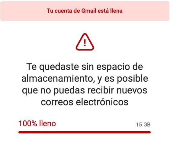 Te quedaste sin espacio de almacenamiento en Gmail