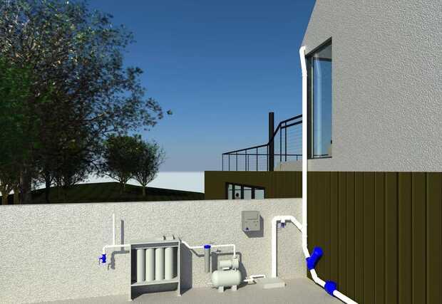 Sistema de captación de agua de lluvia