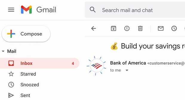 Logotipos autenticados de marcas en Gmail son como una insignia verificada pero para correos electrónicos