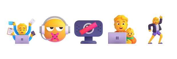 Conoce todos los nuevos emoji de Microsoft ahora animados y en 3D