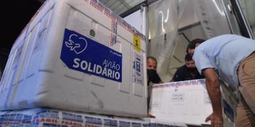 Nossa remessa de 76 mil doses da CoronaVac chega a Goiás. Foto Hegon Corrêa.