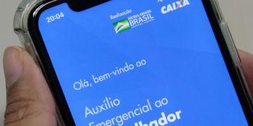 Aplicativo do auxílio emergencial. Foto: Agência Brasil