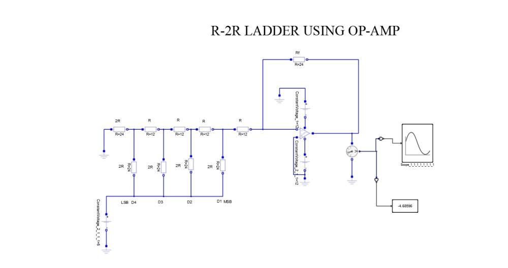 medium resolution of r 2r ladder using op amp