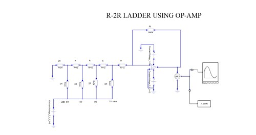 small resolution of r 2r ladder using op amp