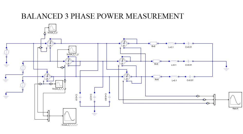 medium resolution of three phase power measurement balanced load for capacitive and resistive loads