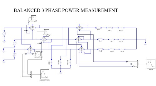 small resolution of three phase power measurement balanced load for capacitive and resistive loads