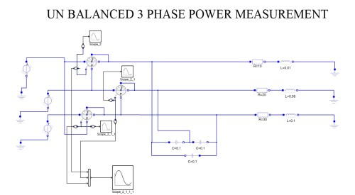 small resolution of three phase power measurement unbalanced load for capacitive and resistive loads