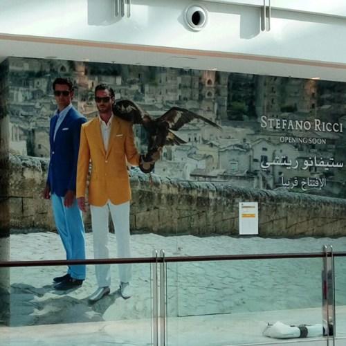Hoarding for Stephano Ricci in Dubai Mall Fashion Avenue