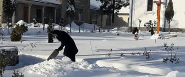 Iarna la Mănăstirea Frumoasa